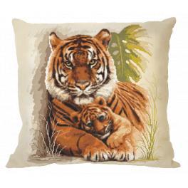 Stickpackung mit Kissenbezug - Kissen mit Tigern