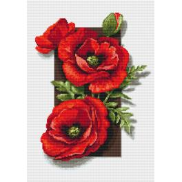 Diamond Painting Set - Mohnblumen 3D