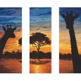 Aida mit Aufdruck - Energie aus Afrika - Triptychon