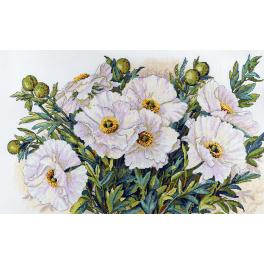 Stickpackung - Weiße Blumen