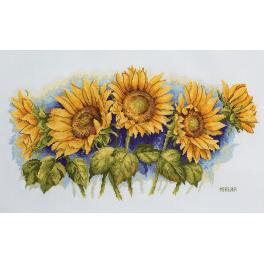 Stickpackung - Strahlende Sonnenblumen