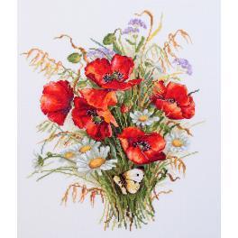 Stickpackung - Mohnblumen und Getreide