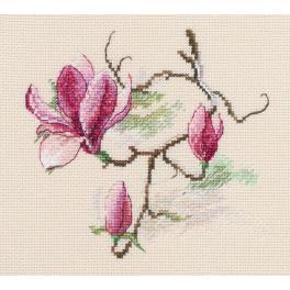 Stickpackung - Magnolienblumen