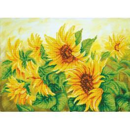 Diamond Painting Set - Atemberaubende Sonnenblumen