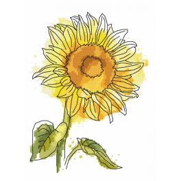 Aida mit Aufdruck - Entzückende Sommerblume