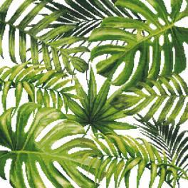 K 8979 Gobelin - Exotische Blätter