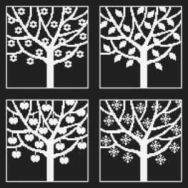 Stickpackung - Vier Jahreszeiten