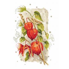 Gobelin - Blasenkirschen im Herbst