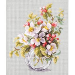 Stickpackung - Blühender Apfelbaumzweig
