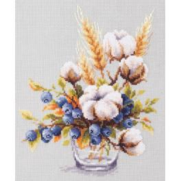 Stickpackung - Blühende Baumwollpflanze und Beeren