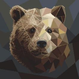 Zahlmuster ONLINE - Mosaikbär