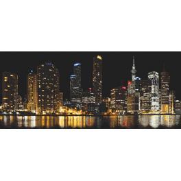 Stickpackung - Stadt in der Nacht