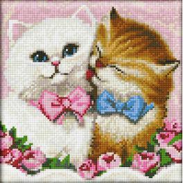 Diamond Painting Set - Zwei Kätzchen