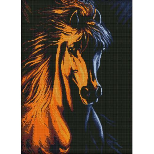 Diamond Painting Set - Feuriges Pferd