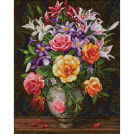 Diamond Painting Set - Rosen und Lilien