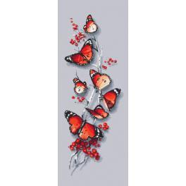 ZI 10192 Stickpackung mit Stickgarn und Perlen - Schmetterlingsreiz