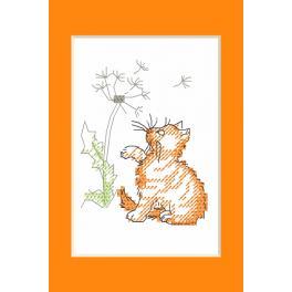 Zählmuster - Gelegenheitskarte - Kätzchen