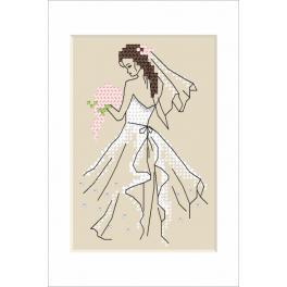 Zählmuster - Hochzeitskarte - Braut