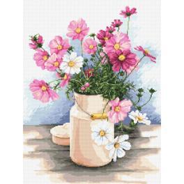 Stickpackung - Land-Blumenstrauß