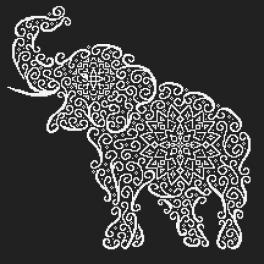 Zählmuster - Spitzenelefant