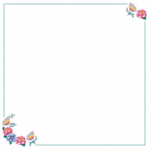 Zählmuster - Tischdecke mit Blumen