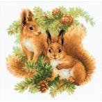 Set mit Wollgarn - Eichhörnchen