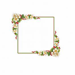W 10196 Zahlmuster online - Weihnachttischdecke mit Blumen