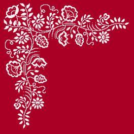 Zählmuster - Serviette - Weiße Stickerei
