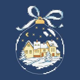 Zahlmuster ONLINE - Weihnachtskugel mit Stadt