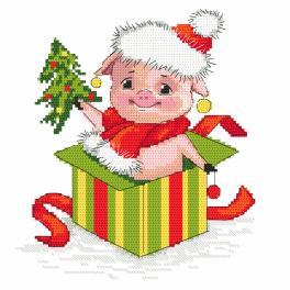 Zahlmuster ONLINE - Weihnachtsschweinchen