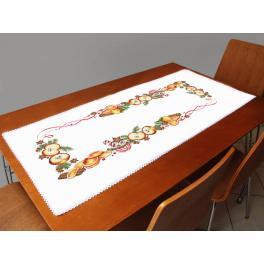 ZU 10400 Stickpackung mit Stickgarn und Tischläufer - Weihnachtsläufer