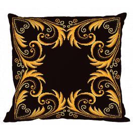 Zählmuster - Kissen - Goldene Arabeske