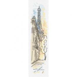 Zählmuster - Lesezeichen - Grüße aus Paris
