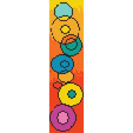 W 10187 Zahlmuster ONLINE - Lesezeichen - Spiel mit Farben