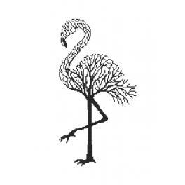 Zählmuster - Schwarze Flamingo