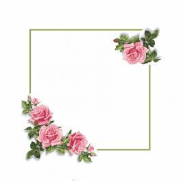 Zählmuster - Tischdecke mit Rosen 3D