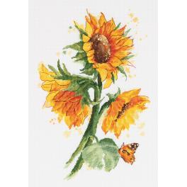 Stickpackung - Leuchtende Sonnenblumen