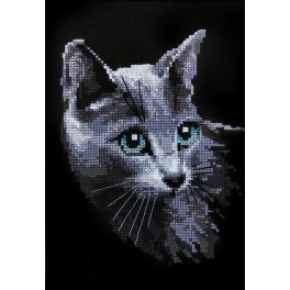 Set mit Wollgarn - Russische Katze