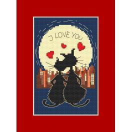 Stickpackung - Karte - Verliebte Kätzchen