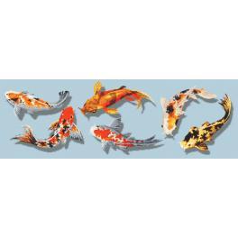 Zählmuster - Bunte Fische