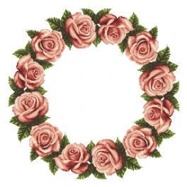 Zählmuster - Serviette mit Rosen