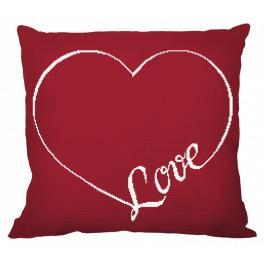 Stickpackung mit Kissenbezug - Kissen - Love