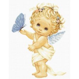 Stickpackung - Engel mit Schmetterling