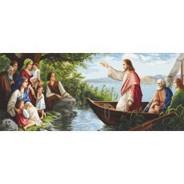 K 10614 Gobelin - Auf Jesus hörend