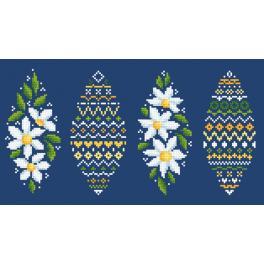W 10606 Zählmuster online - Osterei mit Gänseblümchen
