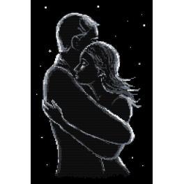 Stickpackung - Die Verliebten in der Nacht