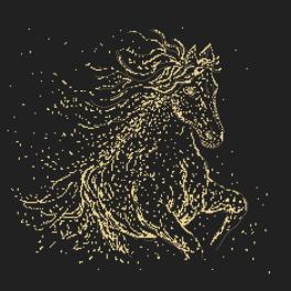Zählmuster - Sternenpferd