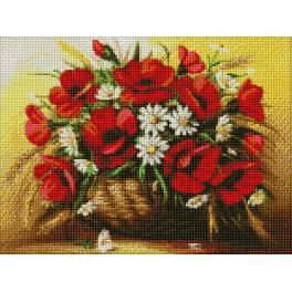 Diamond Painting Set - Mohnblumen in der Vase