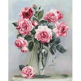 Diamond Painting Set - Rosen auf Marmortisch