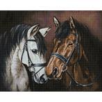 Diamond Painting Set - Sensibilität der Pferde